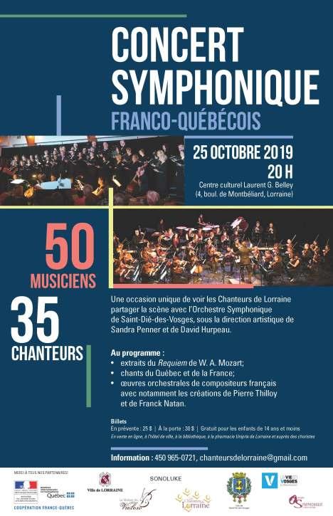 Affiche concert symphonique Lorraine